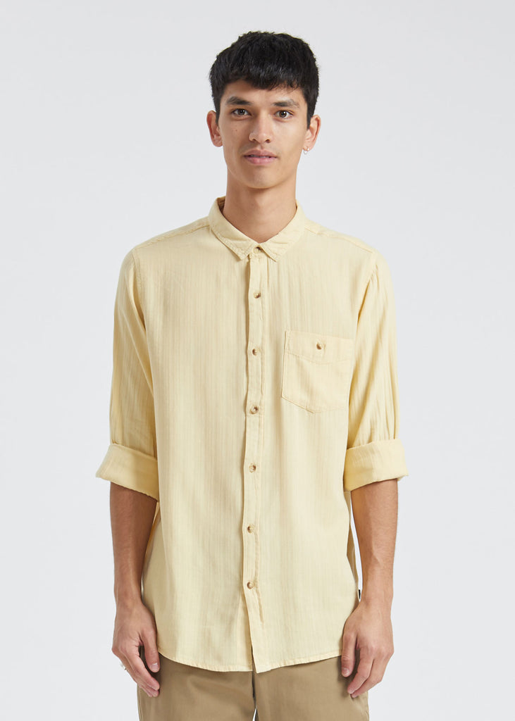 Men At Work Herringbone Shirt Faded Sun