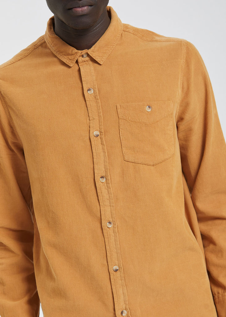 Men At Work Cord Shirt Tan