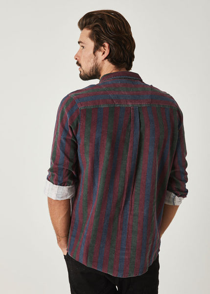 Men At Work Stripe Cord Shirt Multi