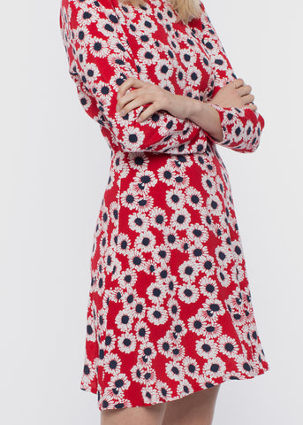 Oasis Dress Red Daisy