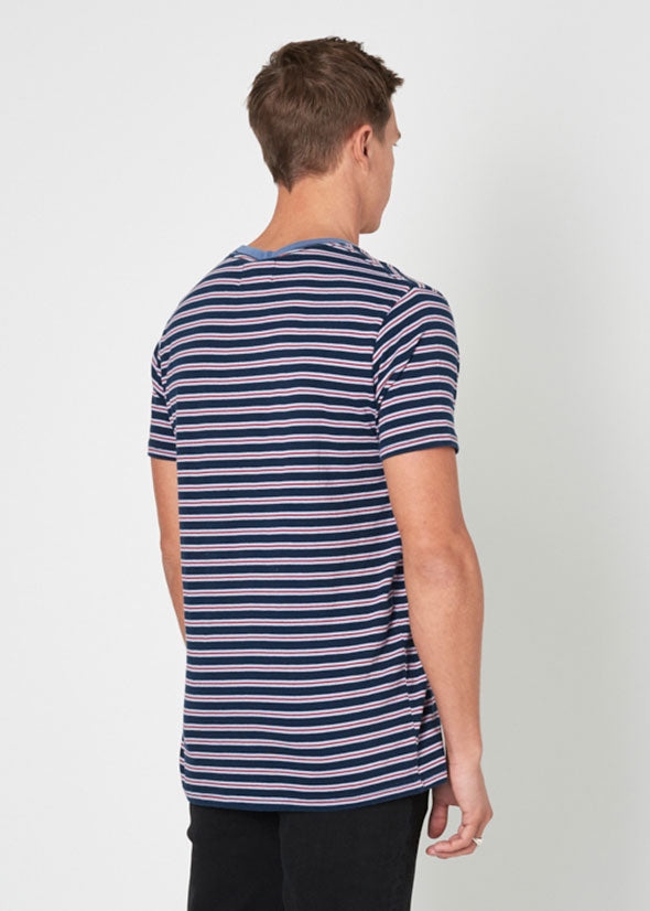 Old Mate Stripe Tee True Blue Stripe
