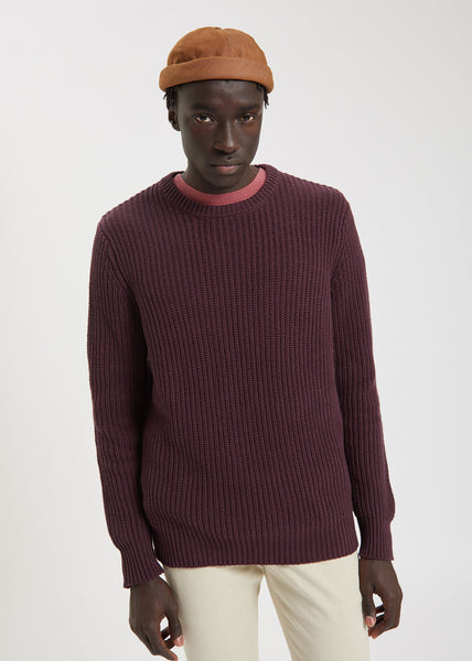 ROLLAS Crew Knit Wine