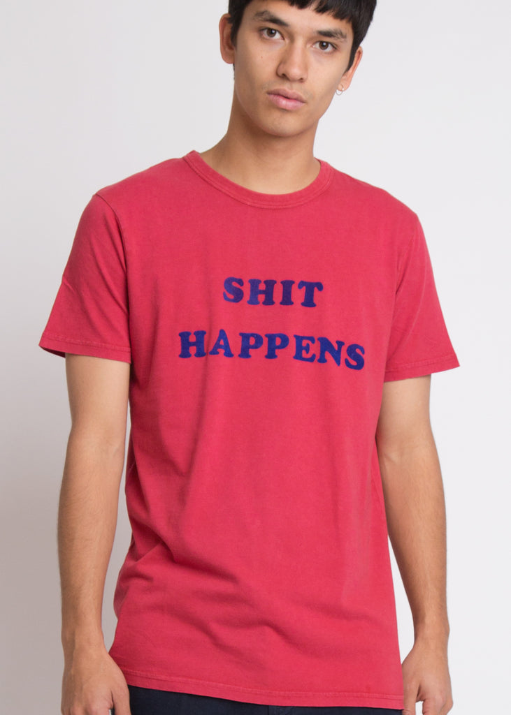 Shit Flock Tee Red