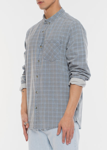 Tradie Check Shirt Blue Stone