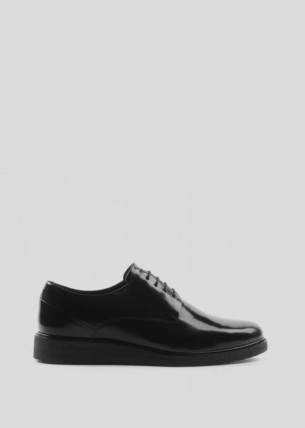 Border Creep Derby Shoe Black