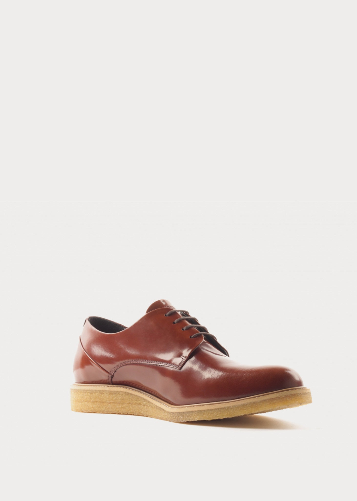 Border Creep Derby Shoe Tan