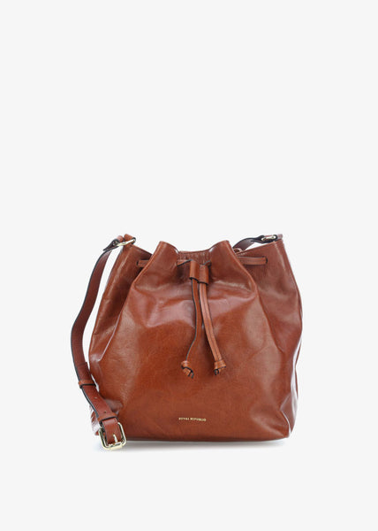 Bucket Handbag Cognac