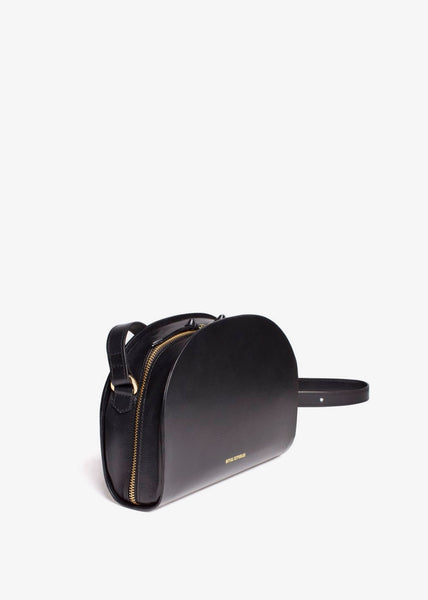 Galax Curve Evening Bag Black