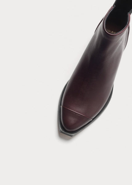 Prime Square Back Chelsea Boot Bordeaux