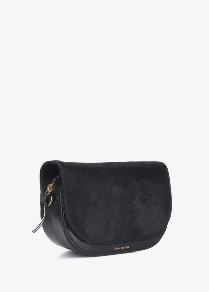 Raf Curve Handbag Pony Black