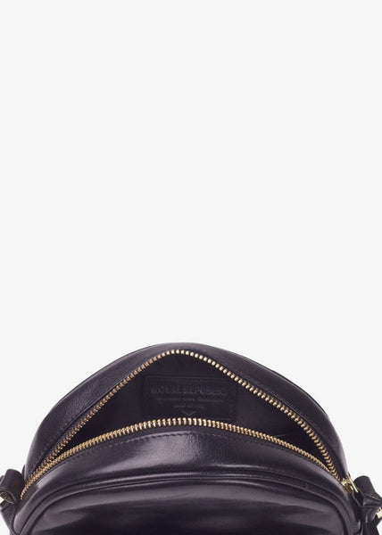 Round Evening Bag Black