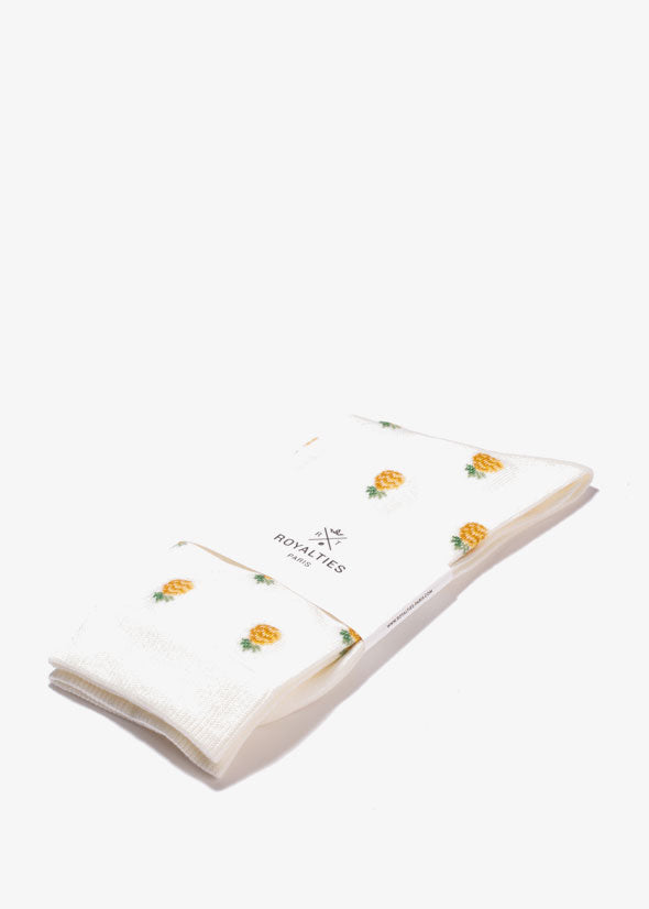 Pineapple Socks Ivory