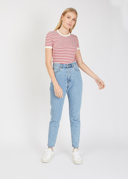 Nelly Short Sleeve Cherry Stripe