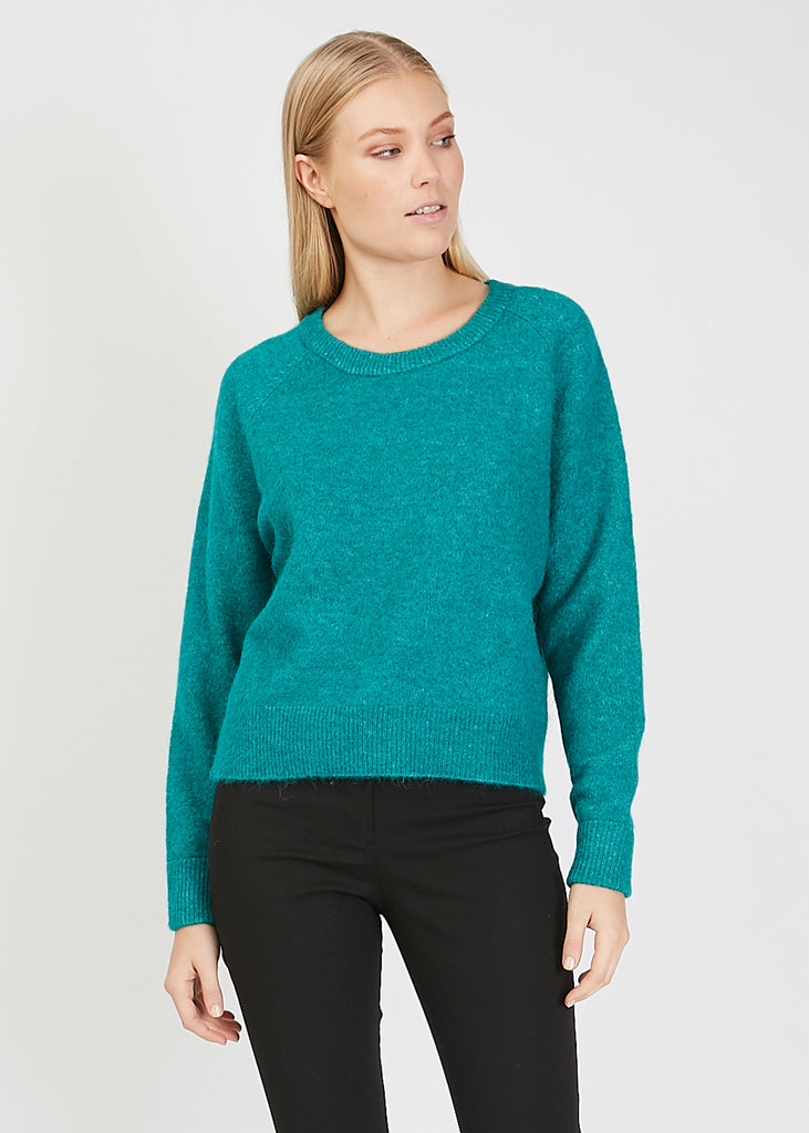 Nor O- Neck Short Knit Quetzal Mel