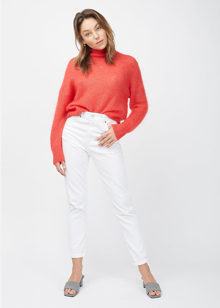 Zora T-Neck Knit Hibiscus