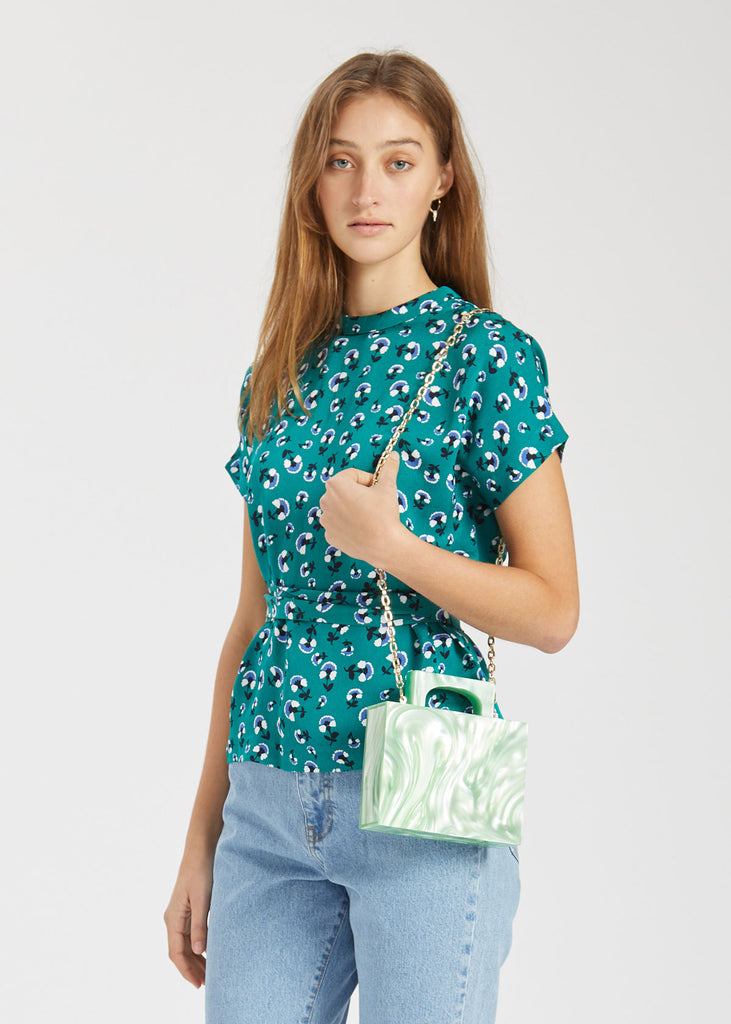 Blumea Blouse Green Carnation