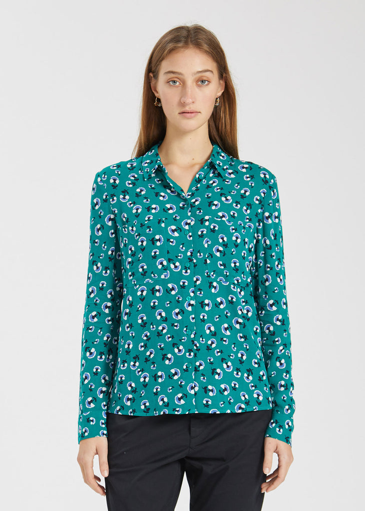 Milly Shirt Green Carnation