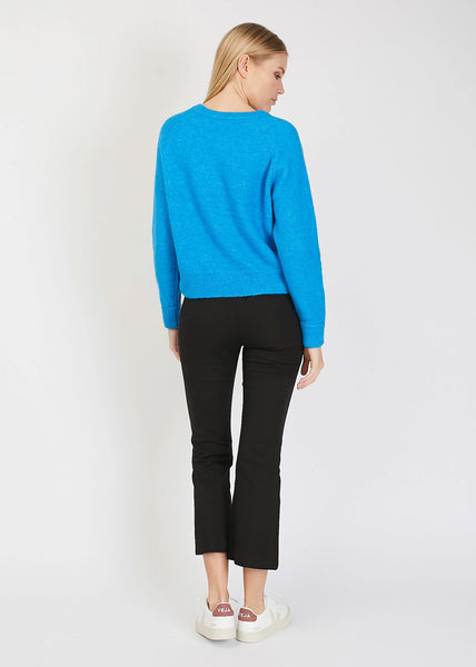 Nor O- Neck Short Knit Blue Aster Mel