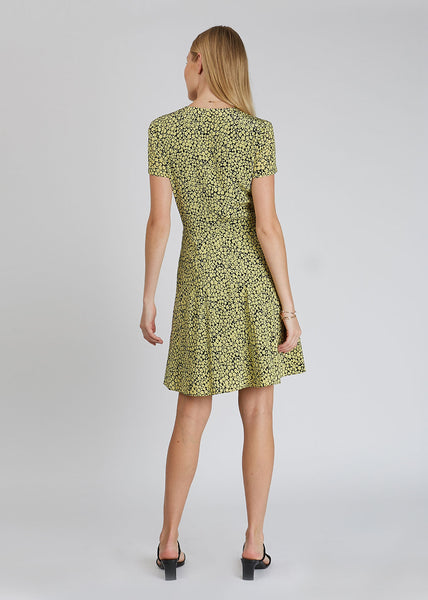 Cindy Dress Aop Yellow Buttercup