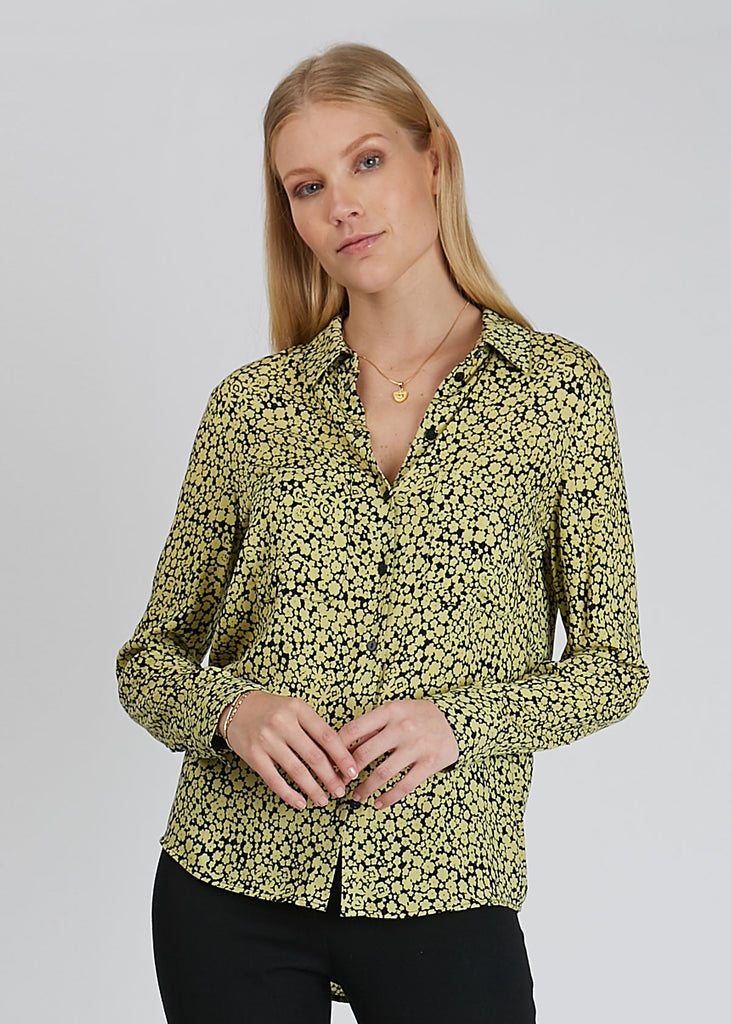 Milly Shirt Aop Yellow Buttercup