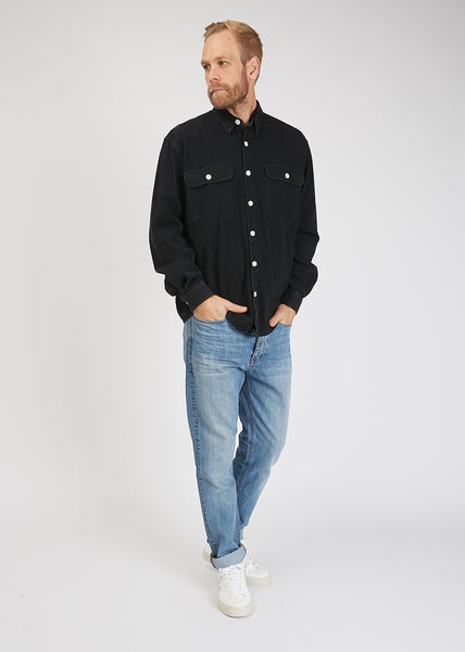 Boxy Denim One Shirt Black