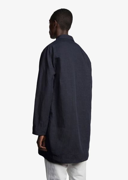 Coatshirt Linen One Shirt Navy