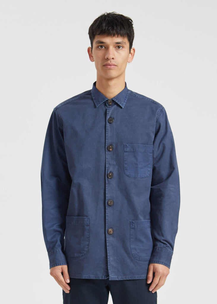 Overshirt Overdyed One Shirt Dark Blue