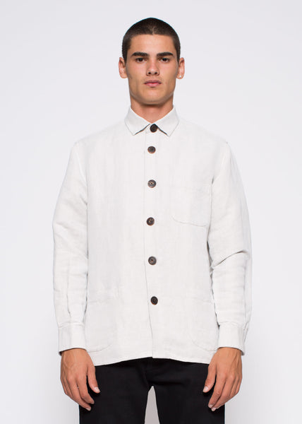 Overshirt Linen Mix One Shirt Chalk