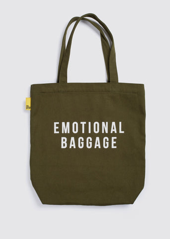 Emotional Baggage Tote Khaki