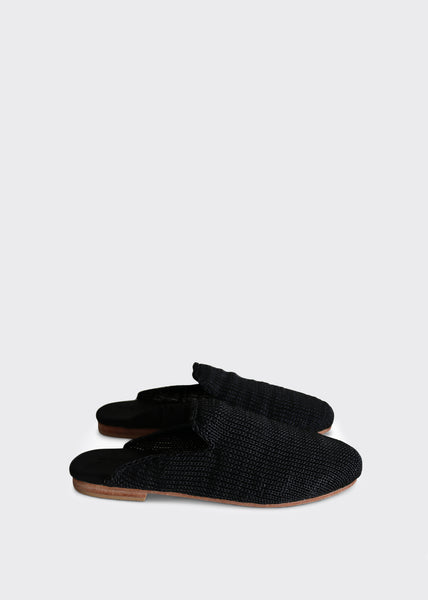 Desi Knit Loafers Black