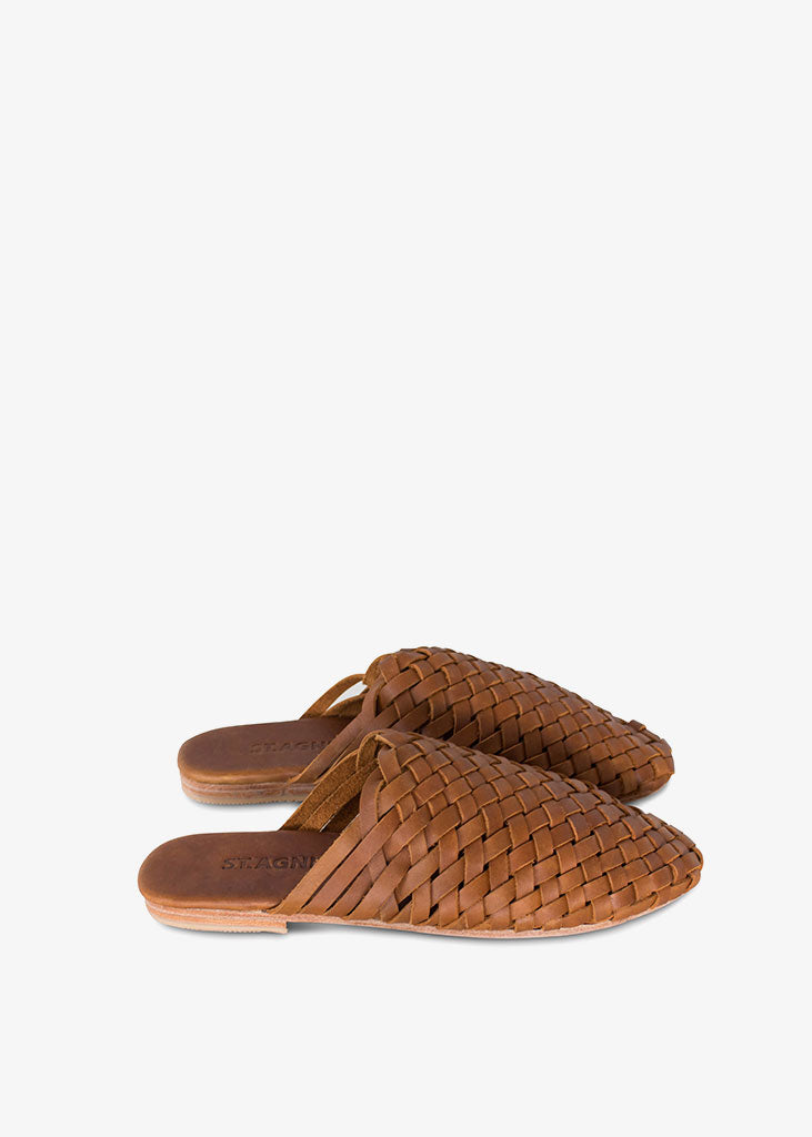 Bunto Woven Loafers Vintage Tan