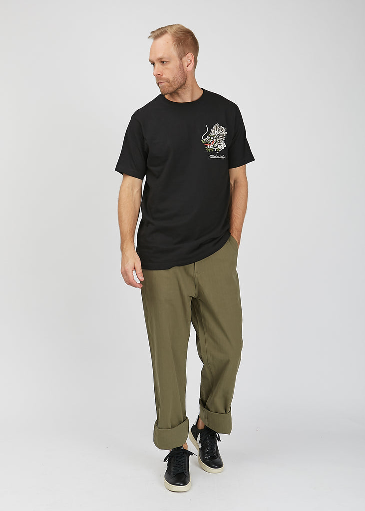 Sailor Pants Hunter Green Herringbone