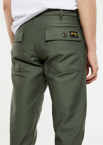Slim Fit 4 Pocket Fatigue Pants Olive Sateen