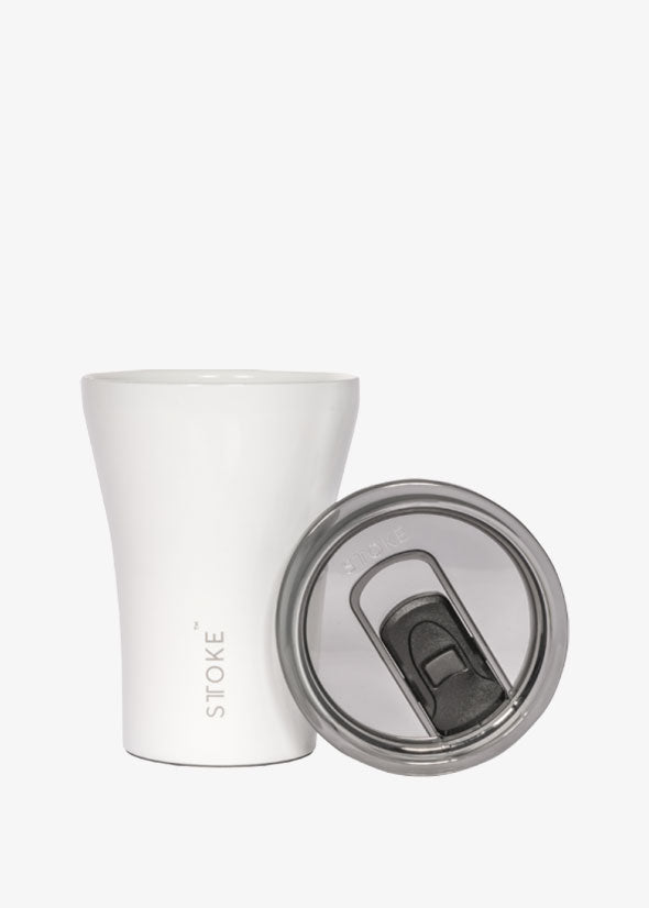 Sttoke Reusable Coffee Cup Angel White
