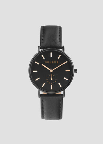 The Classic Black / Rose Gold Index / Black