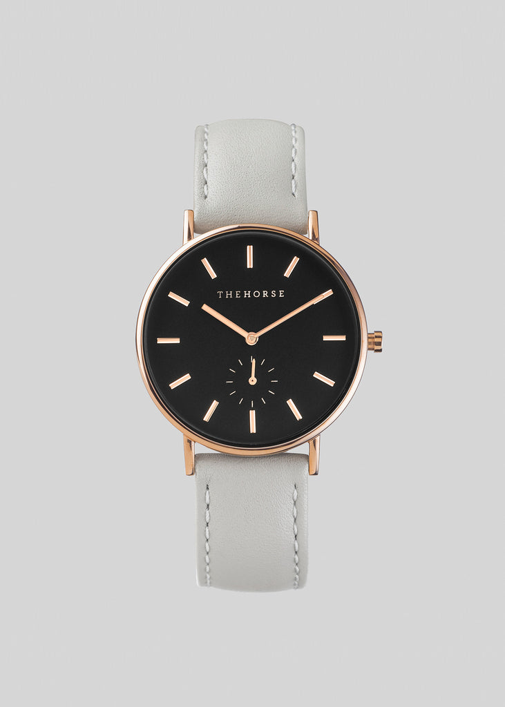 The Classic Rose Gold / Black Dial / Pink Leather