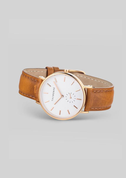 The Classic Rose Gold / White Dial / Tan Leather