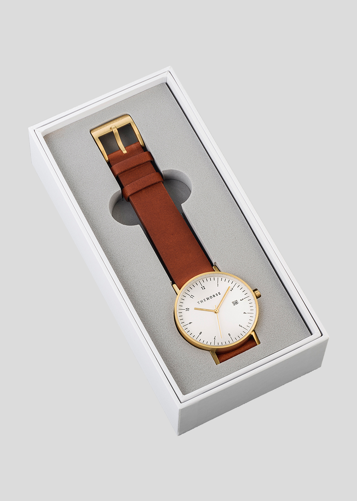 D-Series Watch Gold/White/Coffee