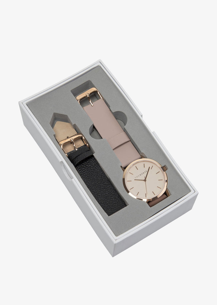 The Original Gift Box: Rose Gold/Blush & Black Leather