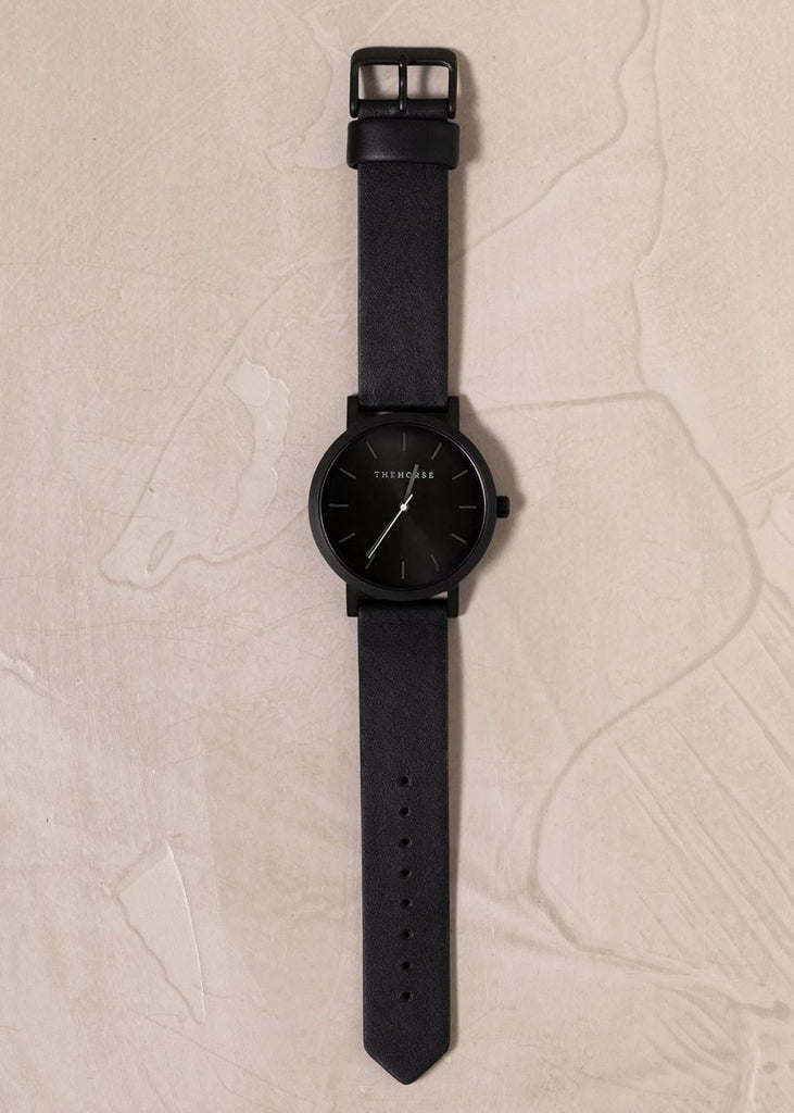 The Original Watch: Matte Black / Black Sunray / Black Leather