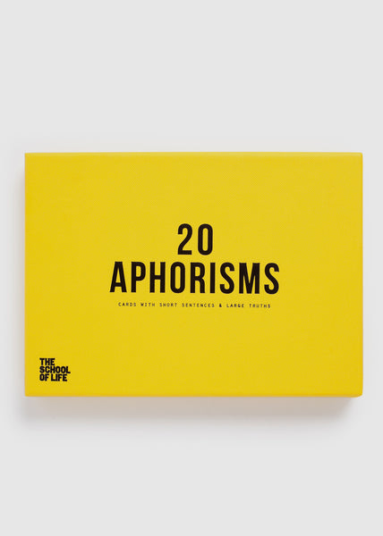 20 Aphorisms Card Game