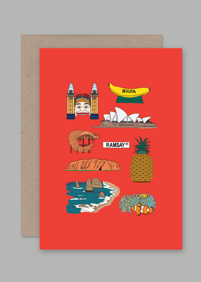 Aussie Icons Greeting Cards