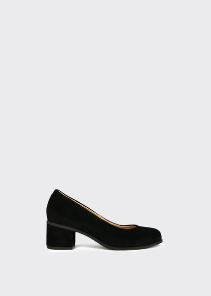Town Pump Suede Shoes Black