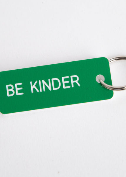 Be Kinder Key Tag Kelly Green/White