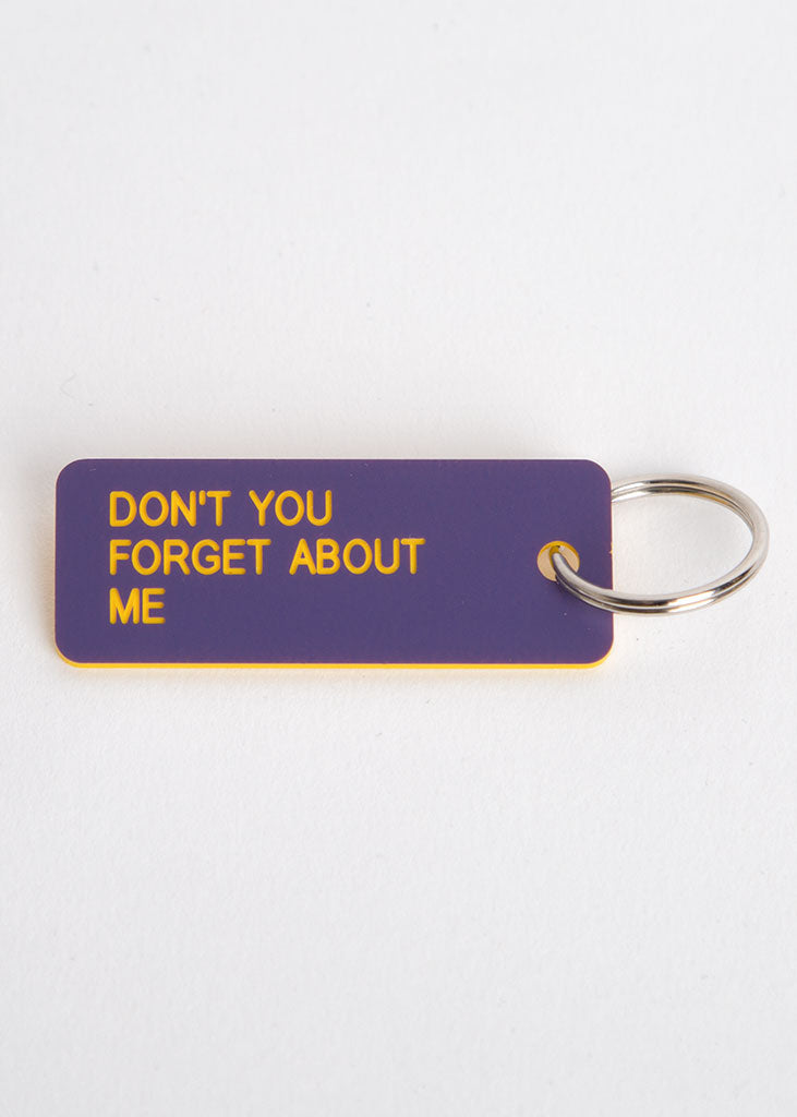 Don't You Forget About Me Key Tag Purple/Yellow