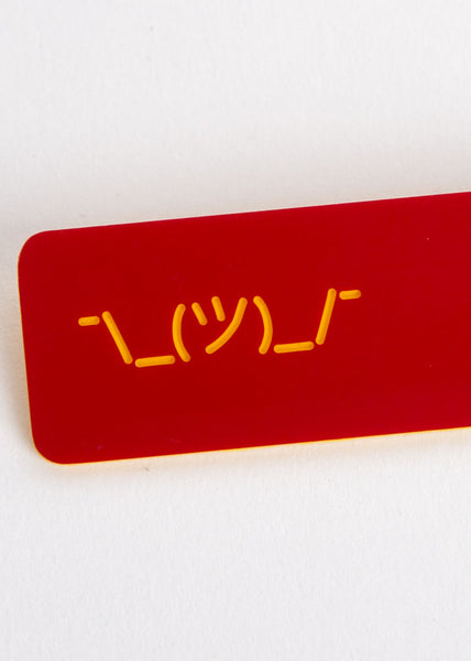 Shrug Symbol Key Tag Crimson/Yellow
