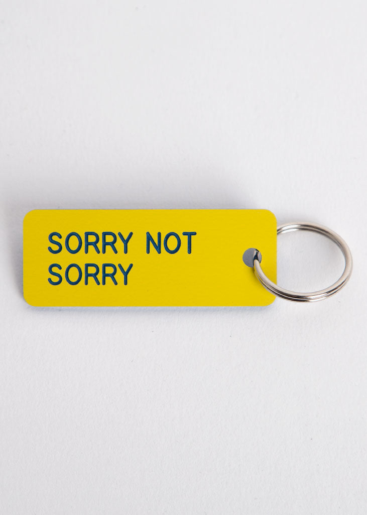 Sorry Not Sorry Key Tag Yellow/Sky Blue
