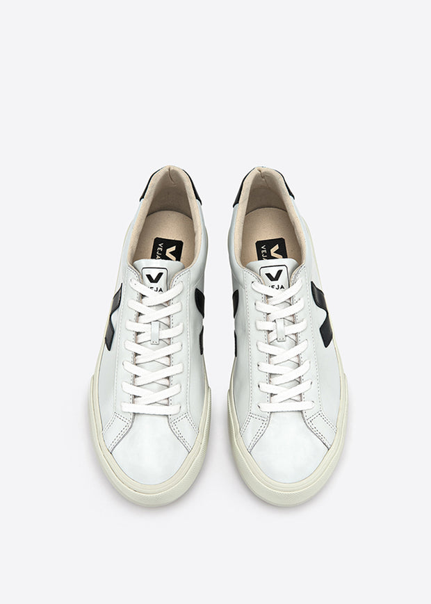 Esplar Low Logo Leather Shoes Extra White/Black
