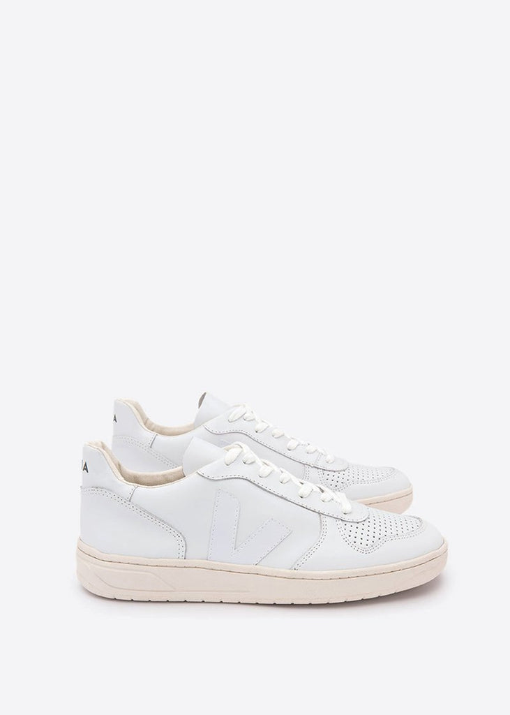 V10 Leather Shoes Extra White