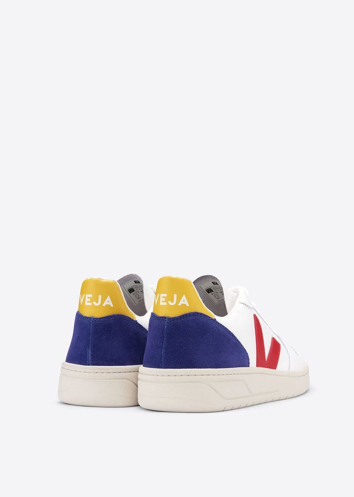 V10 Shoes Extra White Pekin Cobalt Gold Yellow